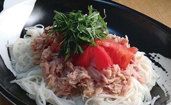 トマトしそツナ素麺