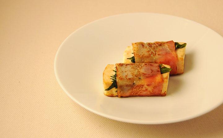 豆腐のベーコン巻