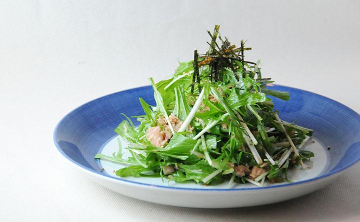 水菜のしゃっきりぴりぴりサラダ