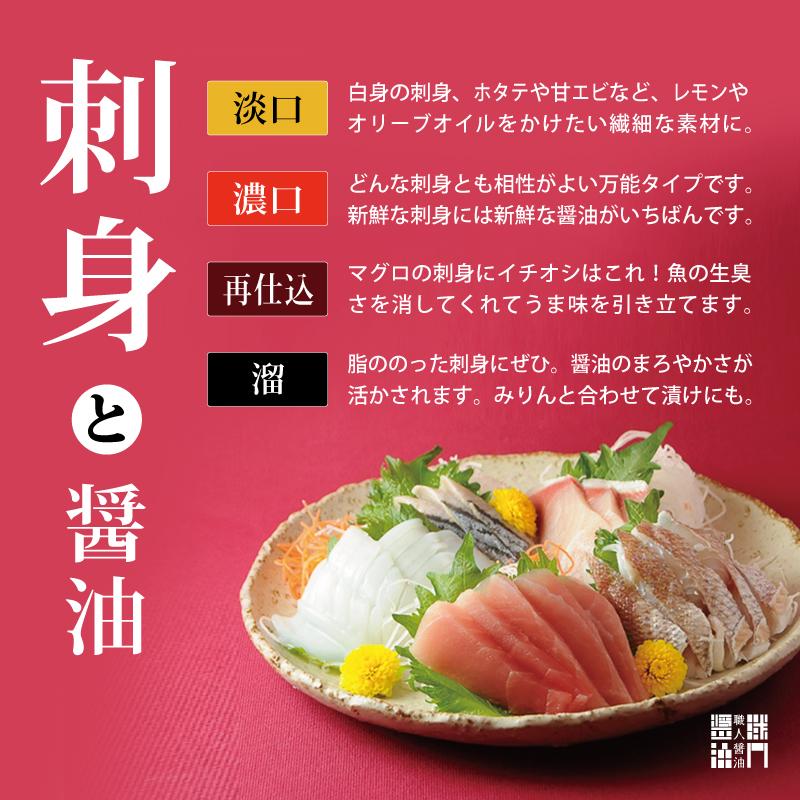 魚を楽しむ醤油
